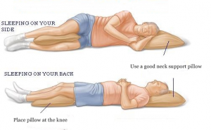 Change your sleep position